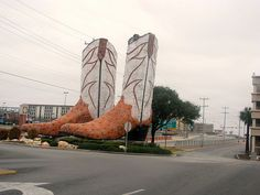 Largest cowboy boots, San Antonio TX, 40 ft tall and 45 ft wide...located @ my go-to mall!