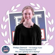 Phillipa Fitness Question - Why am I getting sick in Spring? College Workout, Sick, Nutrition, Exercise, Play, This Or That Questions, Guys, Couples, Spring