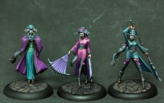 Tabletop painting for Ravenswood's malifaux band. (first part here )