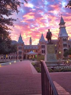 Burleson Quadrangle at Baylor University in Waco, Texas