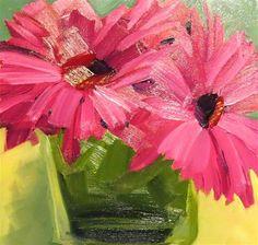 """Pink Gerberas"" - Original Fine Art for Sale - © Lisa Payne"