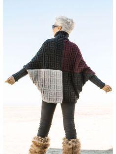 Lana Grossa PULLOVER Fatto Knitting Wool, Knitted Poncho, Knitted Fabric, Hand Knitting, Crochet Shoes, Knit Crochet, Knitwear Fashion, Crochet Woman, Knitting Designs
