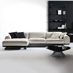 Brandy collection has exclusive character inspired by the world of fashion through new combinations of materials and details. Created by designer Giuseppe V Sofa Seats, Seat Cushions, Couch, Corner Sofa, Furniture Design, Upholstery, Living Room, Interior Design, House Styles