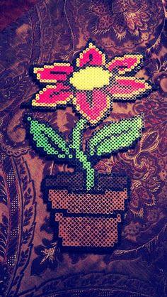 Flower #perler #bead #art