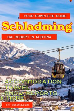 Schladming is an underrated ski resort covering four mountains in the southern Austrian province of Styria. Ski Austria, Company Brochure, Travel Companies, World Championship, World Cup, Skiing, Yearly, Mountains, Night