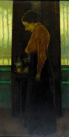 Annie Mankes-Zennike, was in 1911 de eerste vrouwelijke predikant van Nederland. By Jan Mankes , Dutch painter