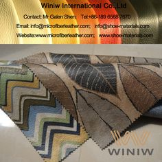 Quality Printed Faux Leather Fabric PU Upholstery Leather