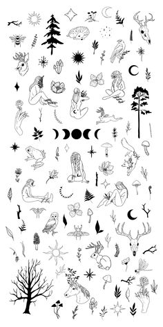 Cute Tiny Tattoos, Mini Tattoos, Body Art Tattoos, Small Tattoos, Tatoos, Witch Clipart, Fairy Clipart, Tattoo Sketches, Tattoo Drawings
