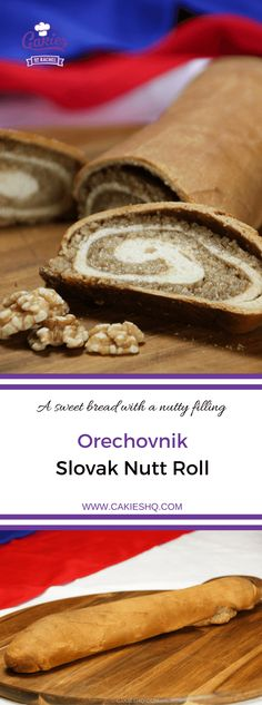 Orechovnik is a Slovak nut roll. A delicious sweet bread with a nutty filling. A favorite in many Eastern European countries.Orechovnik is a Slovak nut roll. A delicious sweet bread with a nutty filling. A favorite in many Eastern European countries. Slovak Nut Roll Recipe, Slovak Recipes, Czech Recipes, Easy Nut Roll Recipe, Hungarian Recipes, Ukrainian Recipes, Povitica Recipe, Baking Recipes, Dessert Recipes