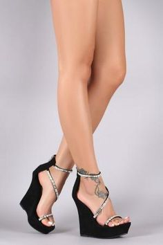 9191d45fb5e 11 Best Strappy wedge shoes images
