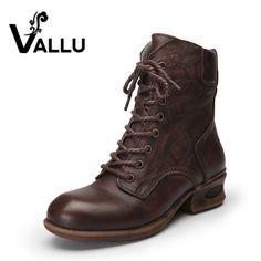 7f01e144f Обувь женские ботильоны Пояса из натуральной кожи на низком каблуке Кружево  Up теплые женские ботинки купить на AliExpress