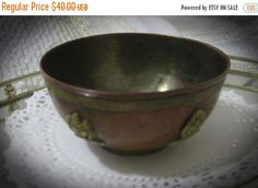 25% Off New Year Sale Vintage Copper And by familycollectibles4U