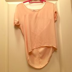 Lucca Couture Light Pink Sheer Top So cute, sheer! Have had it for a while but only worn it a few times. Good condition. Tops Blouses