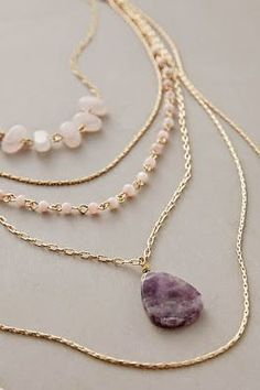 Love layers and the little beads as well as the stone. Love purple
