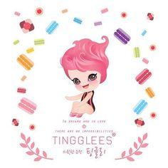 스윗한 요정 팅글리, 츄 Sweet fairy TingGlees, Chu . #tingglees #tingglee #chu #sweets #sweetfairy #macarons #macaronstagram #character #illustration #팅글리 #츄 #스윗한요정 #마카롱 #캐릭터 #일러스트 #디자인