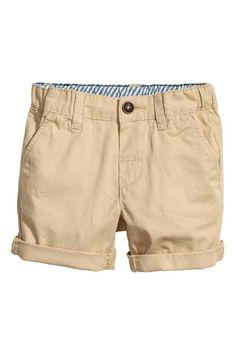 Chino shorts - Beige -   H&M GB 1