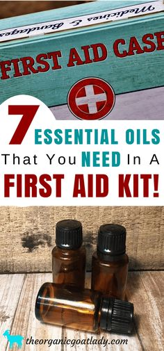 7 Essential Oils That You NEED to Have in Your First Aid Kit! 7 Essential oils That you NEED In A First Aid Kit, Essential oil recipes, Aromatherapy Recipes, Self Sufficient Living, Survival Top Essential Oils, Young Living Essential Oils, Essential Oil Diffuser, Essential Oil Blends, Essential First Aid Kit, Diy First Aid Kit, Camping First Aid Kit, Aromatherapy Recipes, Best Oils
