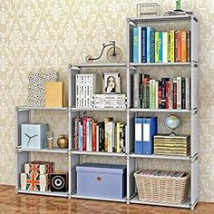 You will love how this lightweight bookshelf is easy to assemble. Whether you need a book shelf for your kid's study room or you simply need a toy organizer, you will appreciate the simple yet sturdy design. It really helped me to declutter and organize and look nice neat and clean. You can add bins cubes inside to change the look but hide things too very versatile for changing time. I will buy again and I highly recommend it. #bookshelves #bookshelf #bookshelfstyling Cube Storage Shelves, Bookcase Organization, Cube Bookcase, Display Shelves, Shelving, Book Shelves, Bookcase Closet, Wall Shelves, Plastic Storage Cabinets