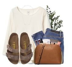 """""""WINTER JAM WAS LIT"""" by lindonhaley ❤ liked on Polyvore featuring Nobody Denim, Birkenstock, Plukka and MICHAEL Michael Kors"""