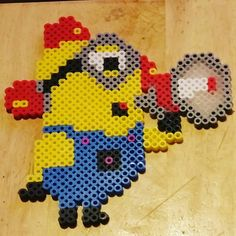 Minion perler beads by origamiandpoetry