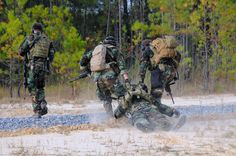 US Navy SEALs conduct immediate action drills at the John C. Stennis Space Center
