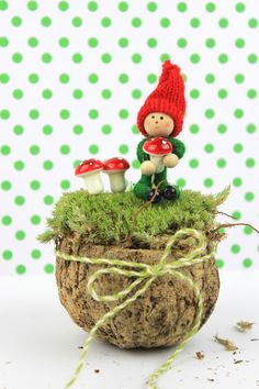 Diy Elf with Mushrooms Woodland Decor!
