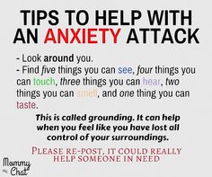 #Tips for getting through an #AnxietyAttack. Everyone is different so this may not work for you but it works for me.