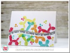 NOTE: THIS IS MY SECOND POST FOR TODAY. PLEASE CLICK HERE FOR MY PROJECT FOR THE CHALLENGE #40! Happy Monday, friends!  Today is a fun day because the Avery Elle design team is teaming up with our f