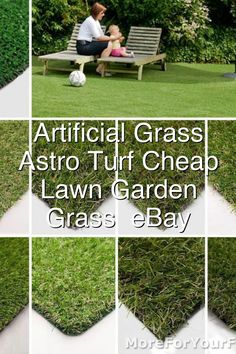 Artificial Grass Quality Astro Turf Cheap Realistic Lawn Garden Artificial Grass eBay#435 Astro Turf Garden, Hydraulic Cars, Lawn And Garden, Grass, Outdoor Decor, Ebay, Gardening, Garten, Garden
