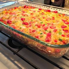 """RECIPE: Make-ahead """"Wake-Up Casserole."""" Hash brown potatoes, Cheddar cheese, ham, and eggs are baked together into a breakfast casserole cleverly named Wake-Up Casserole. Yes, it can be frozen & re-heated. Halloween Brunch, Deviliciously Delicious"""