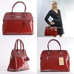 Lakierowana czerwona torebka David Jones - elegancki i pojemny kuferek