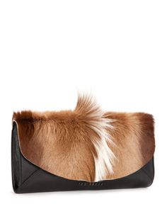 Bold envelope leather clutch - Natural | New Arrivals | Ted Baker I just need everyone to know how bad I need this in my life.