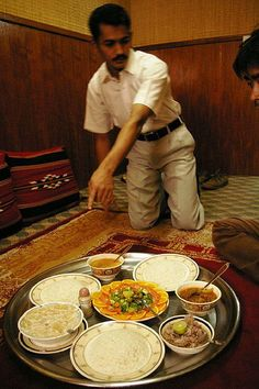 Omani food    @ Bin Atique restaurant, they serve traditional omani food in omani style (no table and chair)