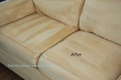 How to clean a microfiber couch... I will never buy microfiber again!
