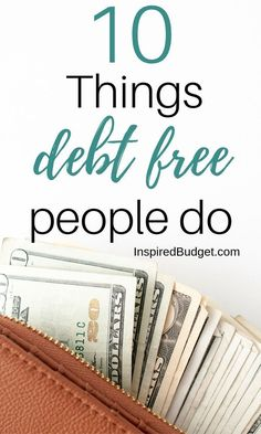 Want to be debt free? Do these 10 things that debt free people do every day to get in the habit of spending less, budgeting better and paying off debt. Budgeting Finances, Budgeting Tips, Ways To Save Money, Money Saving Tips, Money Tips, Saving Ideas, Paying Off Student Loans, Debt Free Living, Financial Peace