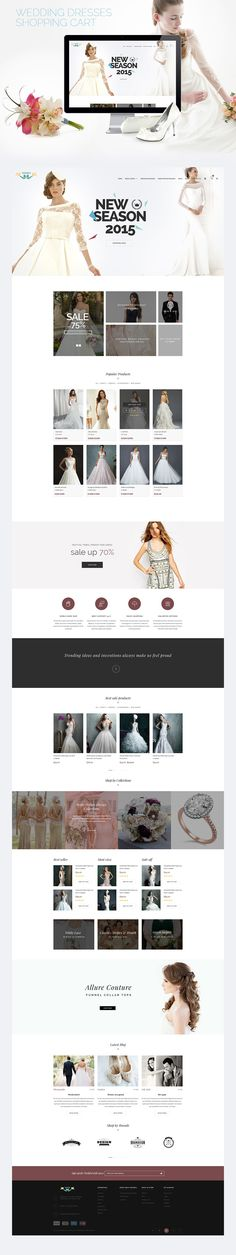 <p>Download Wedding eCommerce Shopping Website PSD Template. This is such a lovely and elegant wedding eCommerce template professionally designed for Online wedding eCommerce and shopping websites. You can use this template for any type of Wedding online store websites. Wedding Store web template is built in a Fancy style however it can be customized as per the user requirements. Hope you like it. Enjoy!</p>