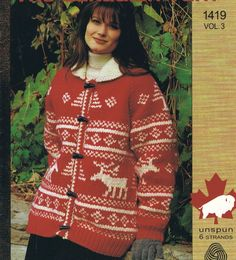 White Buffalo Cowichan Northern Trails Cardigan by KilbellaVintage
