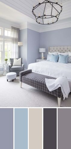 20 beautiful bedroom color schemes (color chart included) Coastal blue bedroom color scheme discover the wonderful world of beautiful dormitory decoration. Blue Bedroom Colors, Bedroom Color Schemes, Master Bedroom Color Ideas, Taupe Bedroom, Interior Design Color Schemes, Blue Bedroom Walls, Blue Bedrooms, Colors For Bedrooms, Small Bedroom Paint Colors