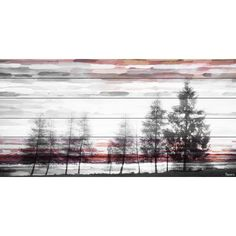 Found it at Wayfair.ca - Red Behind the Trees Painting Print on White Wood