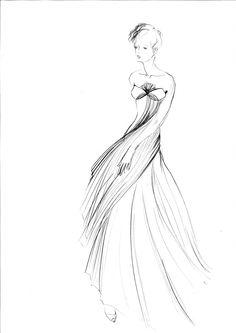 styliste illustrateur: Croquis Haute - couture  http://www.pinterest.com/adisavoiaditrev/