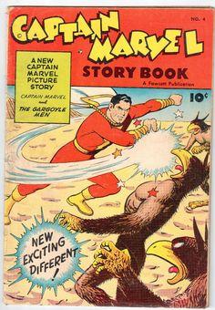 Captain Marvel No 4 Fawcett Publication 1949 Vintage Comic G   eBay