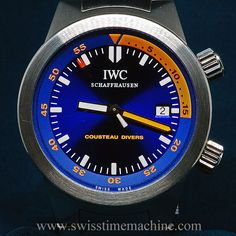 IWC Cousteau Divers Aquatimer Steel. A limited edition of 1953 Pieces. Automatic Movement to commemorate Cousteau's first Red Sea expedition! Perfect time piece!