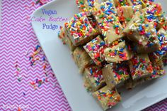 Vegan Cake Batter Fudge (not light, but healthy)