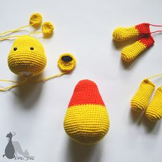 Winnie the Pooh / Kubuś Puchatek Crochet Bear, Crochet Patterns Amigurumi, Crochet Animals, Crochet Toys, Free Crochet, Stitch Head, Pooh Bear, Stuffed Animal Patterns, Handmade Toys