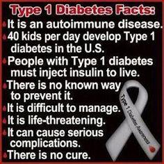 T1D Facts: Info about Type 1 Diabetes. #T1D #type_one_diabetes #diabetes