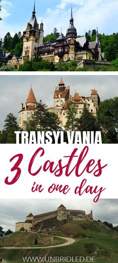 Visiting castles in Transylvania should be in your itinerary. One castle - like Dracula's Castle - doesn't cover a whole day though. I'll show you how you can visit three castles in one day! #transylvania #romania #europe #travel #castles