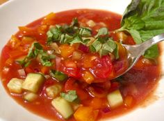 Keep cool and satisfied with our very light, yet very filling chunky gazpacho #recipe http://goo.gl/fvzHmH