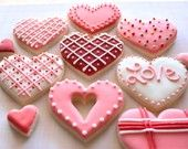 Valentine's Day Cookies, @Chrissy Loftis, these are similar to the designs I've done in the past. Definitely will do one or two of these...