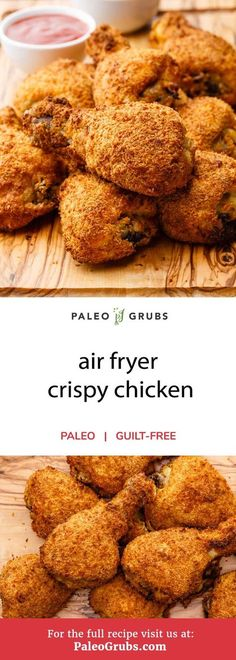 I know there are plenty of readers out there who absolutely love fried food, especially fried chicken. If that sounds like you, then you are definitely in for a treat today. I'm going to be sharing an awesome recipe for air-fryer crispy chicken that rivals the best fried chicken you've ever had. It's even got a delicious homemade seasoning mix using herbs, spices, and shredded coconut. And the best part about this fried chicken? It's totally healthy and 100% paleo-friendly.