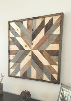 Reclaimed wood wall art, modern wall decor, wooden decor, barn wood decor, reclaimed wood, farmhouse decor by JustaGirlAndHerSaw on Etsy https://www.etsy.com/listing/278994124/reclaimed-wood-wall-art-modern-wall